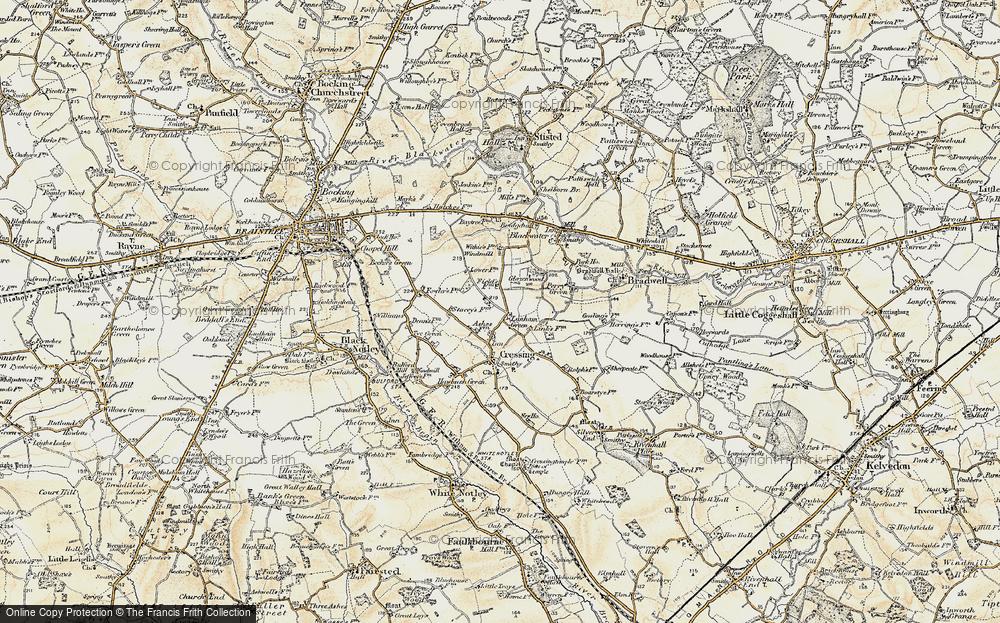 Old Map of Lanham Green, 1898-1899 in 1898-1899