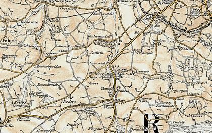 Old map of Lanivet in 1900