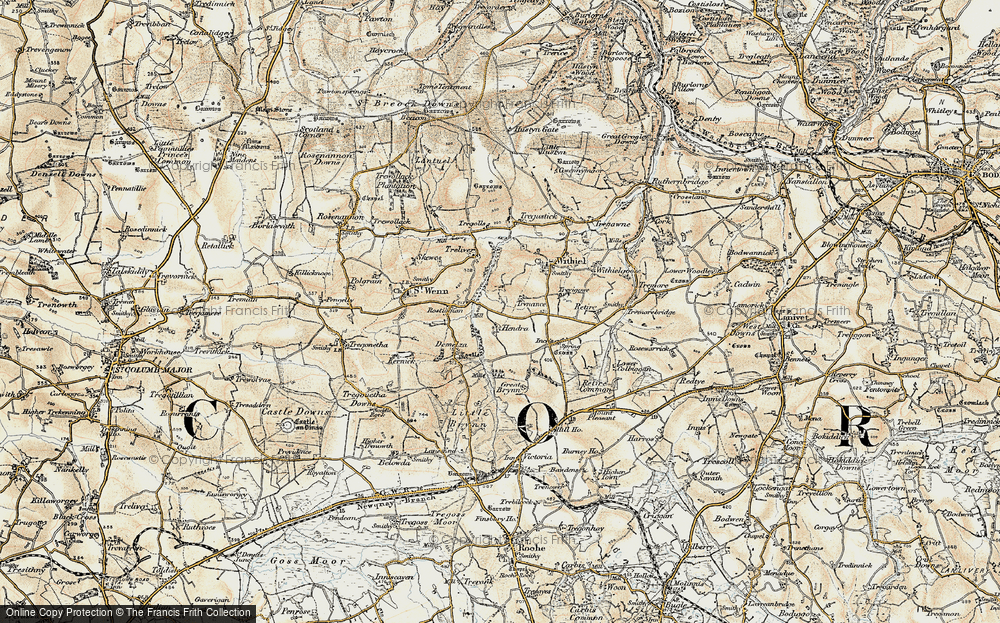Old Map of Lanjew, 1900 in 1900