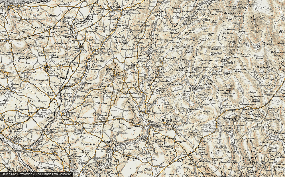 Old Map of Lank, 1900 in 1900