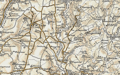 Old map of Lank in 1900