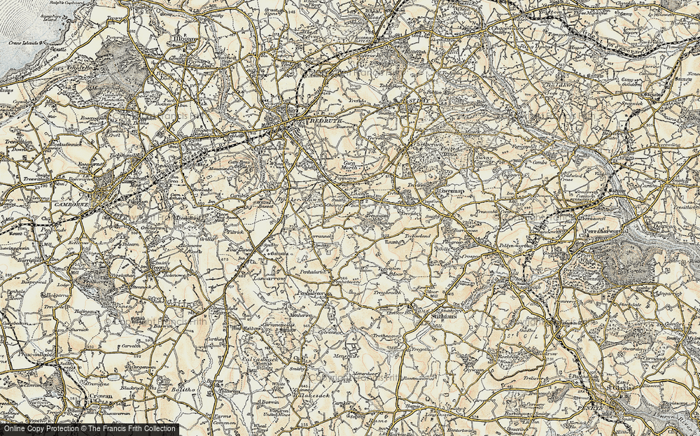 Old Map of Lanner, 1900 in 1900