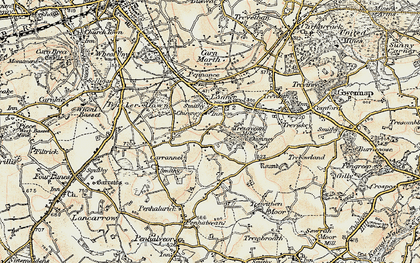 Old map of Lanner in 1900