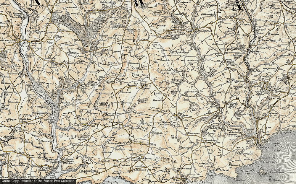 Old Map of Historic Map covering Woodsaws in 1900