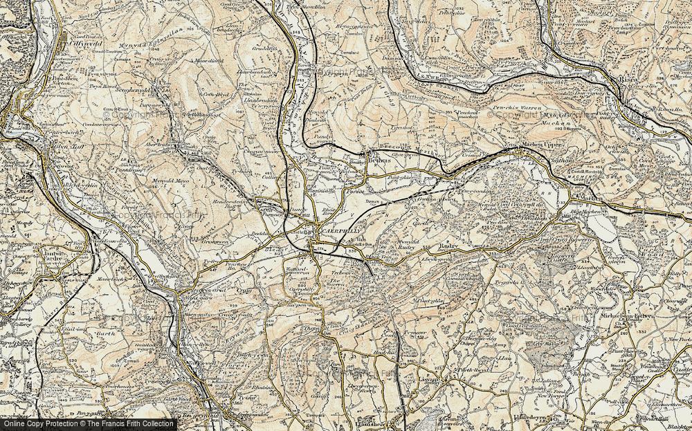 Old Map of Lansbury Park, 1899-1900 in 1899-1900