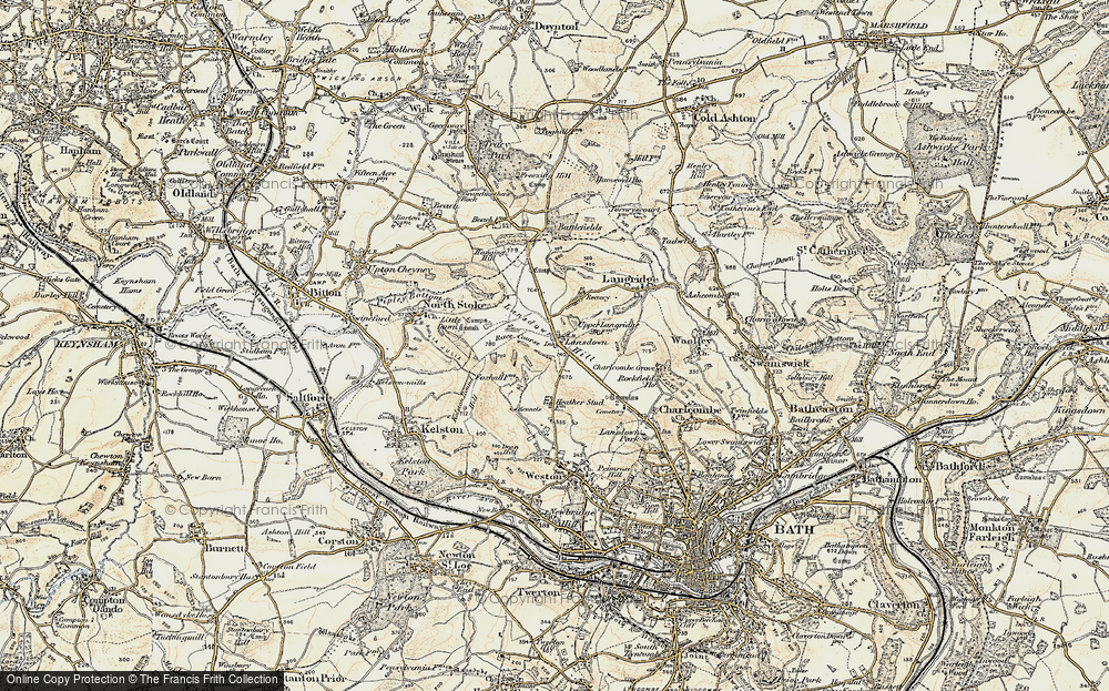 Old Map of Lansdown, 1899 in 1899