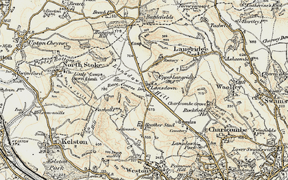 Old map of Lansdown in 1899