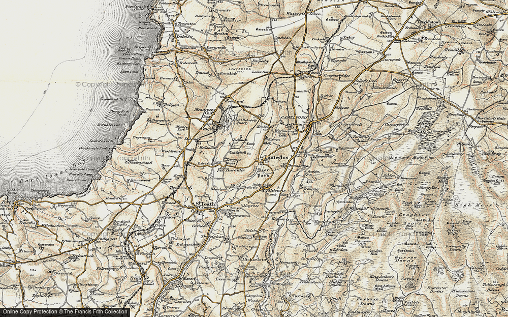 Old Map of Lanteglos, 1900 in 1900