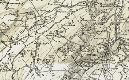 Old map of Lanton Hill in 1901-1904