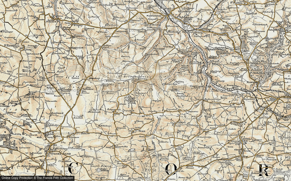 Old Map of Lantuel, 1900 in 1900