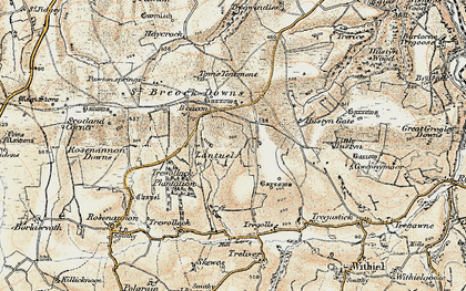Old map of Lantuel in 1900