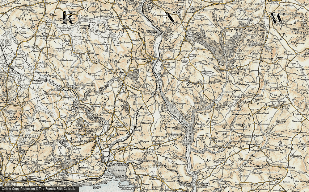 Old Map of Lantyan, 1900 in 1900