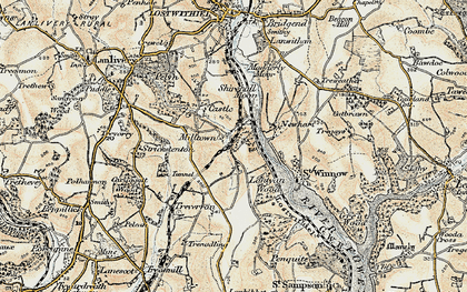 Old map of Lantyan in 1900
