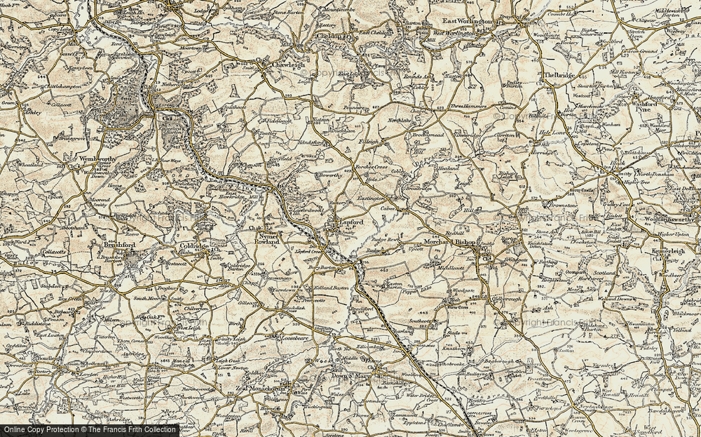 Old Map of Lapford, 1899-1900 in 1899-1900