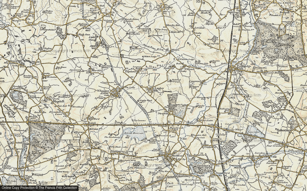 Old Map of Lapley, 1902 in 1902