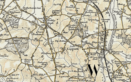 Old map of Lapworth in 1901-1902
