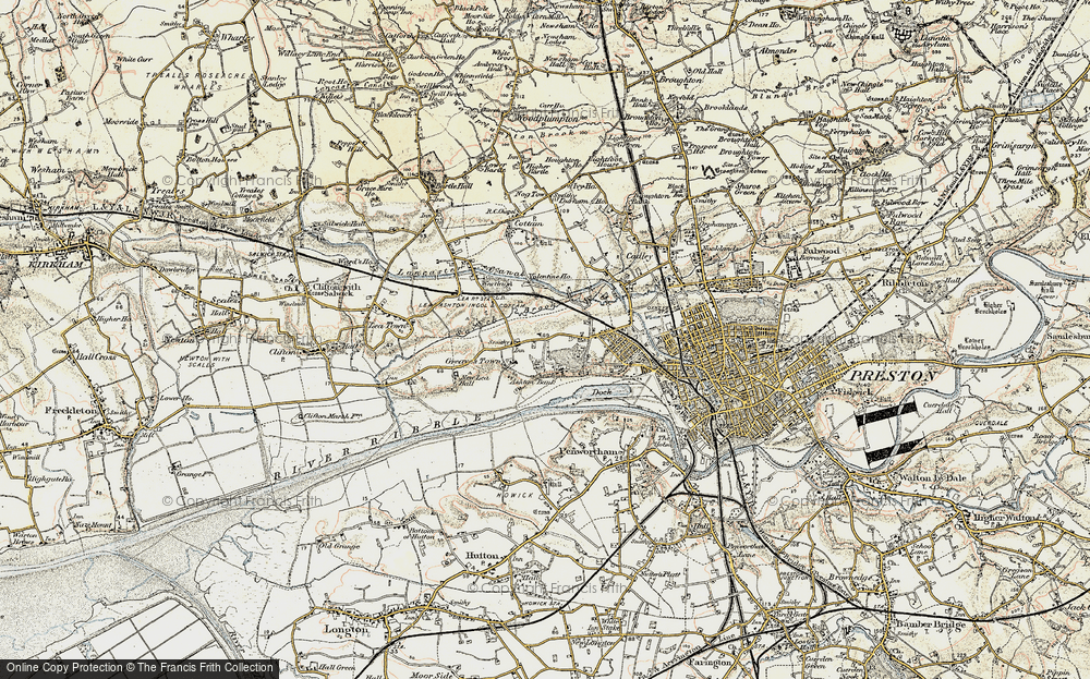 Old Map of Larches, 1903 in 1903