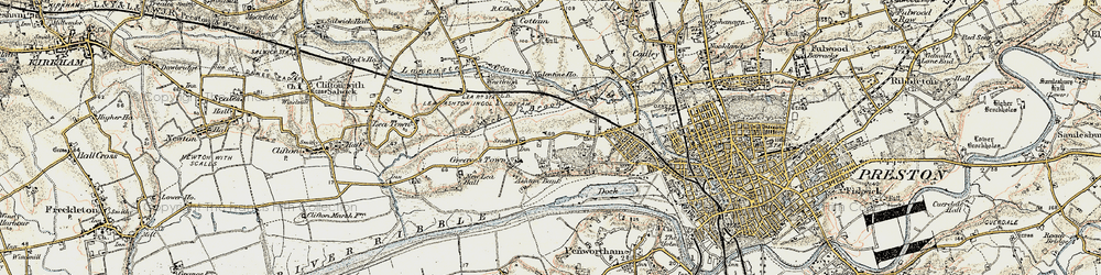 Old map of Larches in 1903