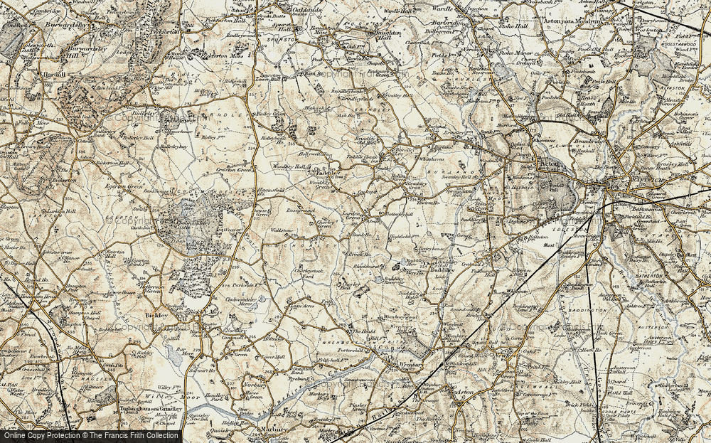 Old Map of Larden Green, 1902 in 1902
