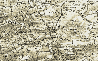 Old map of Lathallan Mill in 1906-1908