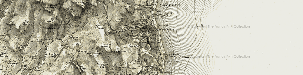Old map of Largymeanoch in 1905-1906