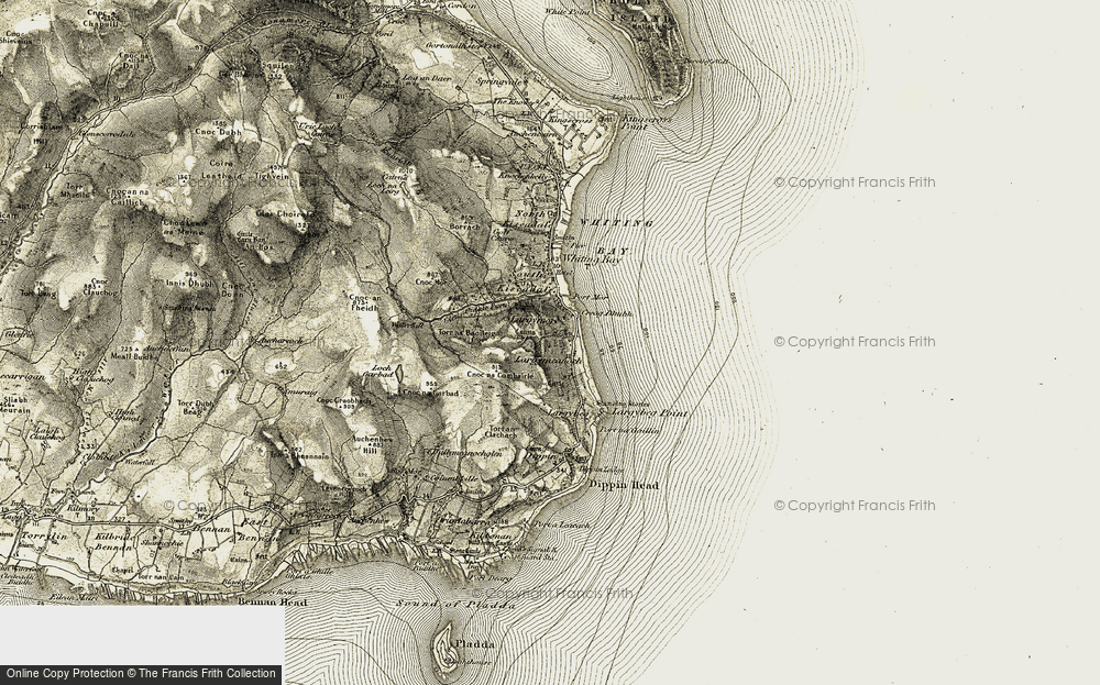 Old Map of Largymore, 1905-1906 in 1905-1906