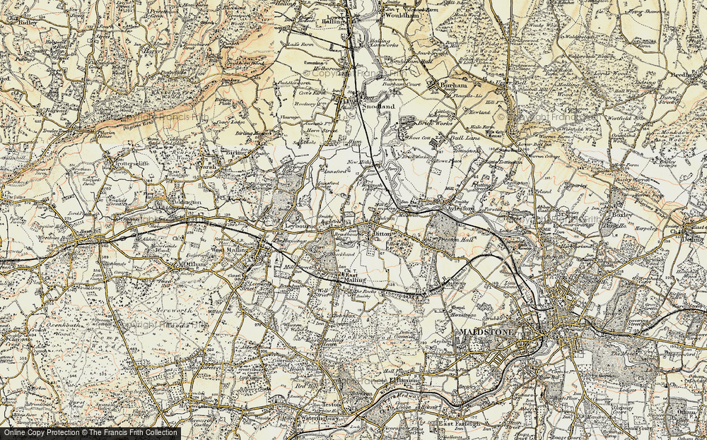 Old Map of Larkfield, 1897-1898 in 1897-1898