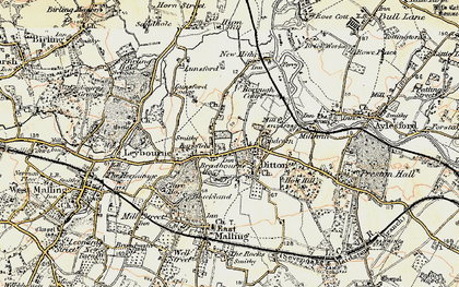 Old map of Larkfield in 1897-1898