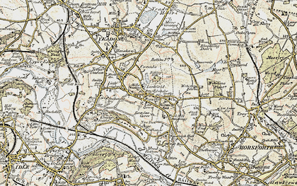 Old map of Larkfield in 1903-1904