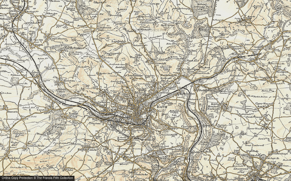 Old Map of Larkhall, 1899 in 1899