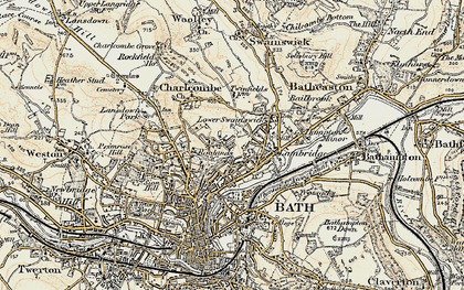 Old map of Larkhall in 1899