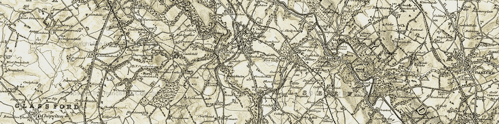 Old map of Larkhall in 1904-1905