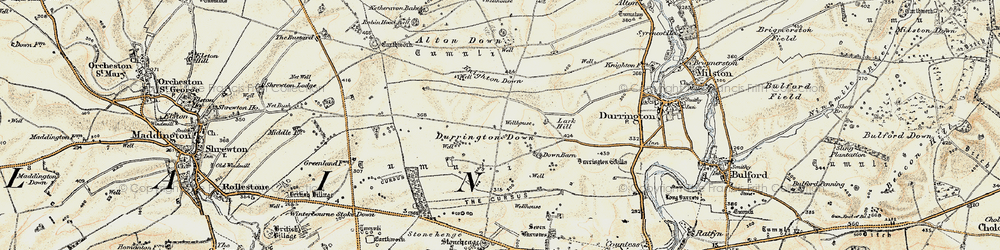 Old map of Alton Down in 1897-1899