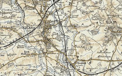 Old map of Larklands in 1902-1903