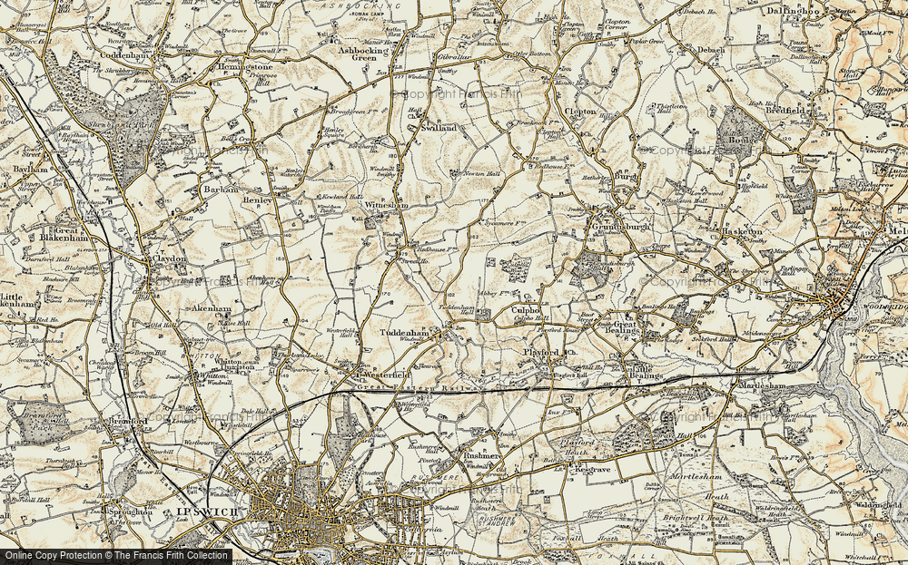 Old Map of Larks' Hill, 1898-1901 in 1898-1901