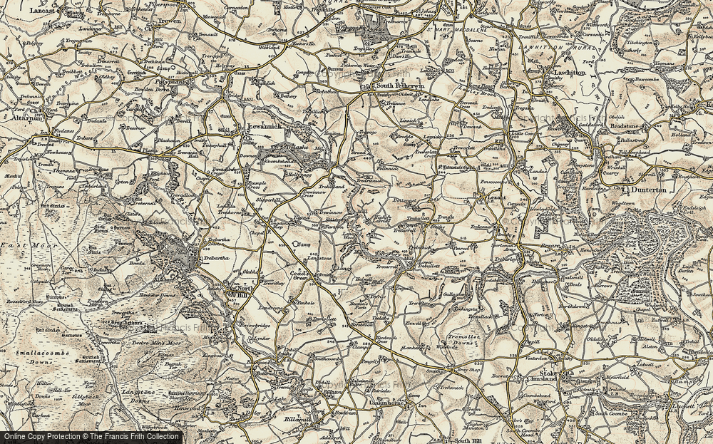 Old Map of Larrick, 1900 in 1900