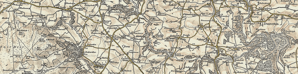Old map of Larrick in 1900