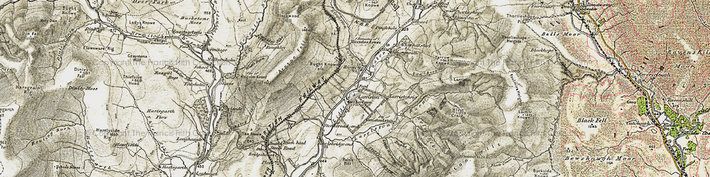 Old map of Larriston Rigg in 1901-1904
