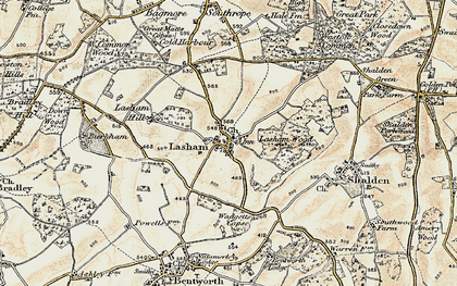 Old map of Lasham Hill in 1897-1900