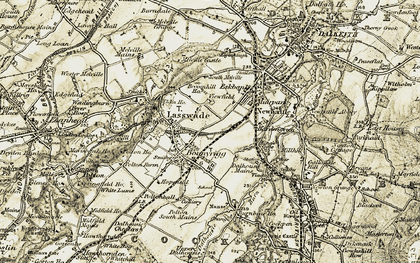 Old map of Lasswade in 1903-1904