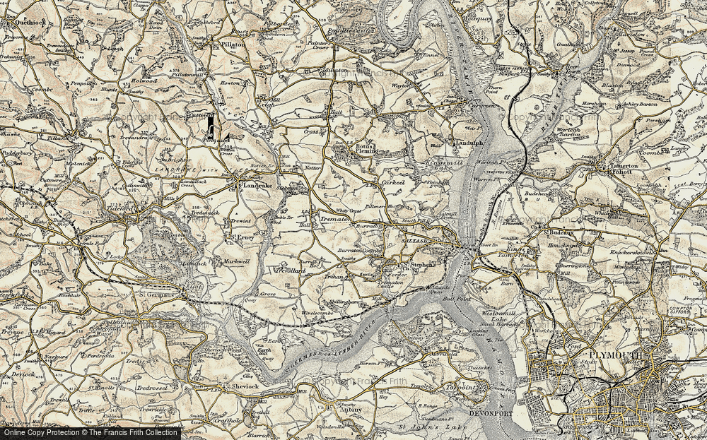 Old Map of Latchbrook, 1899-1900 in 1899-1900