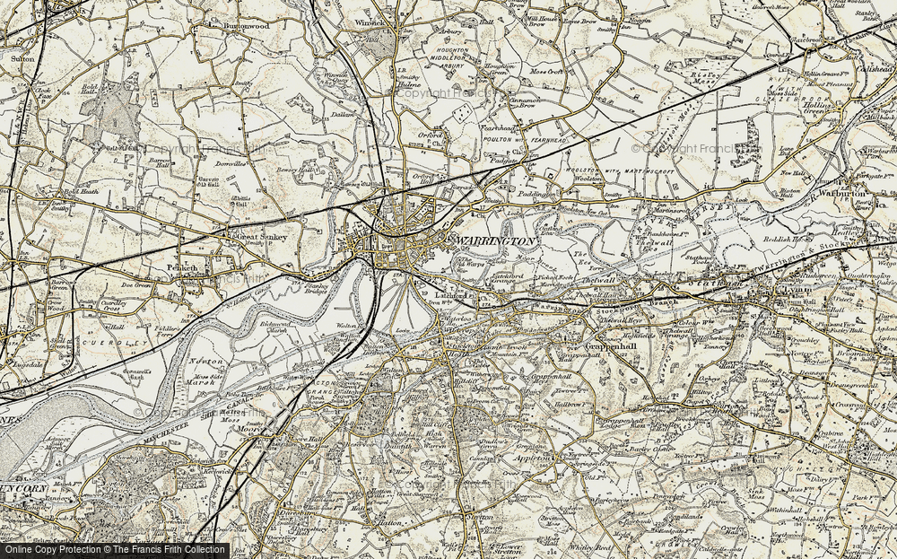 Old Map of Latchford, 1903 in 1903