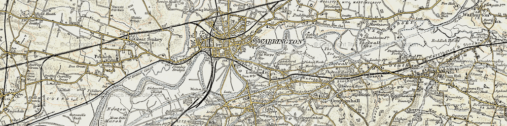 Old map of Latchford in 1903