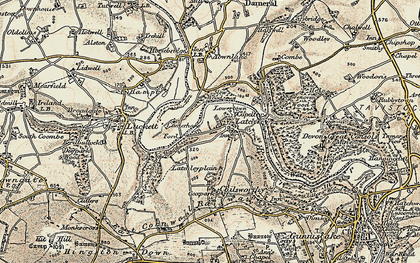 Old map of Latchley in 1899-1900