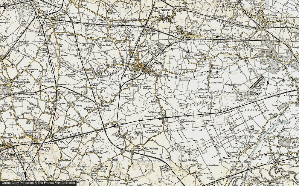 Old Map of Lately Common, 1903 in 1903