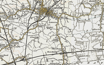 Old map of Lately Common in 1903