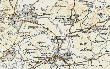 Old map of Lathbury Park in 1898-1901