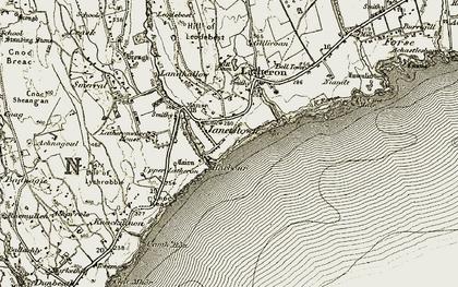 Old map of Latheronwheel in 1911-1912