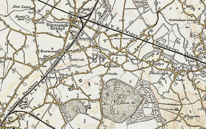 Old map of Lathom Ho in 1902-1903