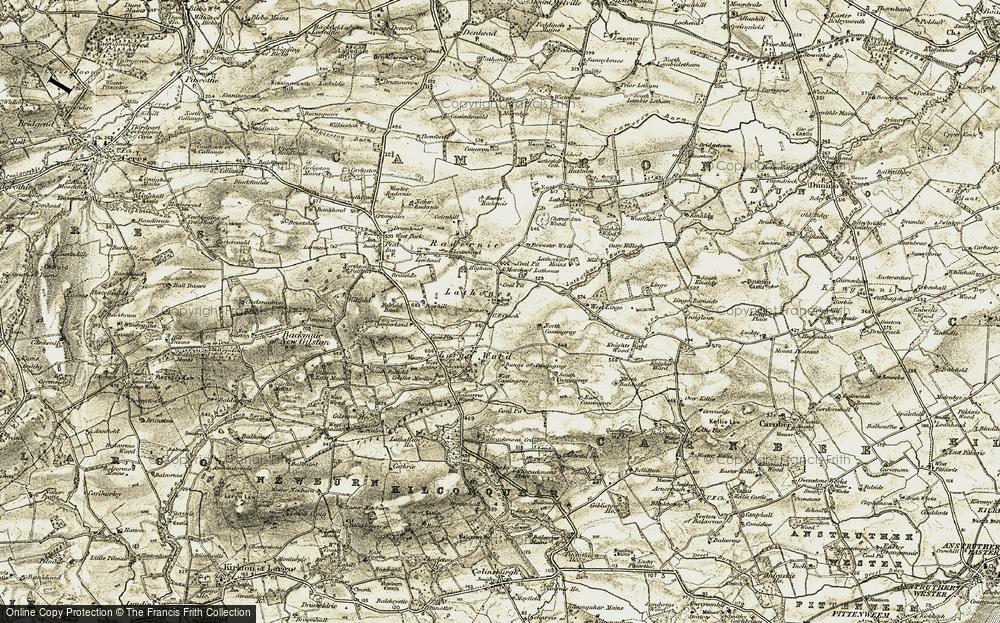 Old Map of Lathones, 1906-1908 in 1906-1908